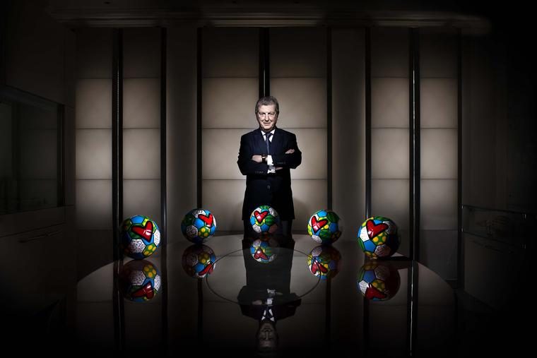 England manager Roy Hodgson, whose footballing achievements were honoured by the Swiss watchmaker in April of this year with the launch of the World Cup special-edition Hublot King Power 66 Hodgson watch.