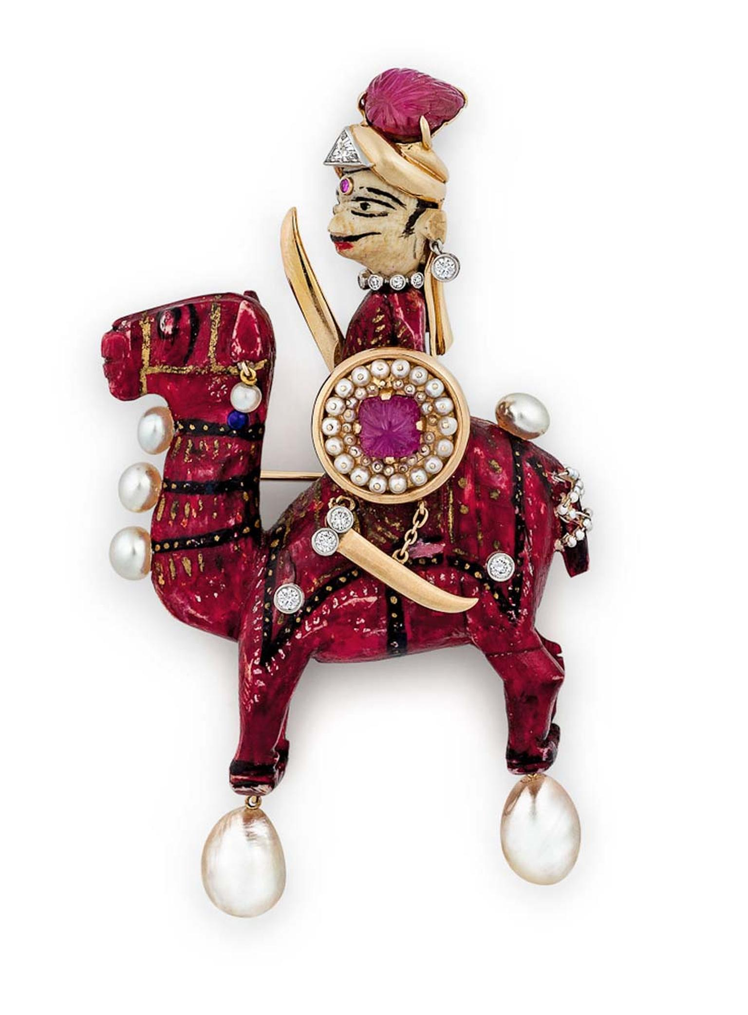 Warrior on Camel brooch by Verdura, once owned by Doris Duke, available at Steven Fox's Connecticut boutique.