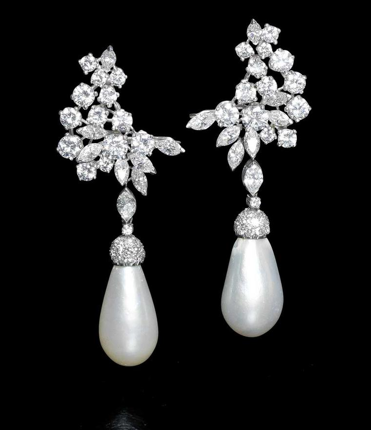 This pair of natural pearl and diamond earrings sold for £290,500 at Bonhams London in April 2014 – double their estimate.
