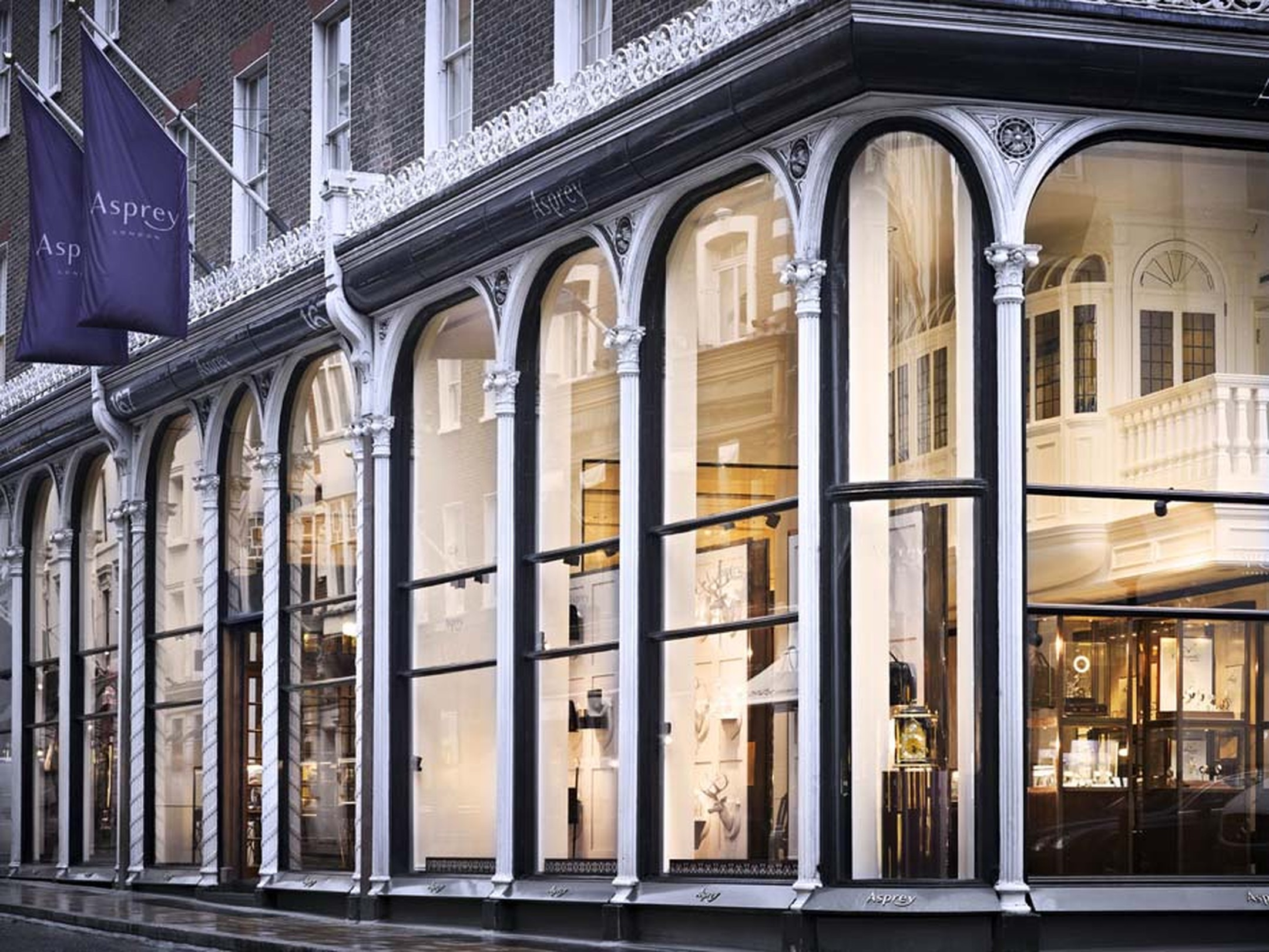 Spread across five Georgian townhouses, Asprey has been based at the New Bond Street premises for 160 years.