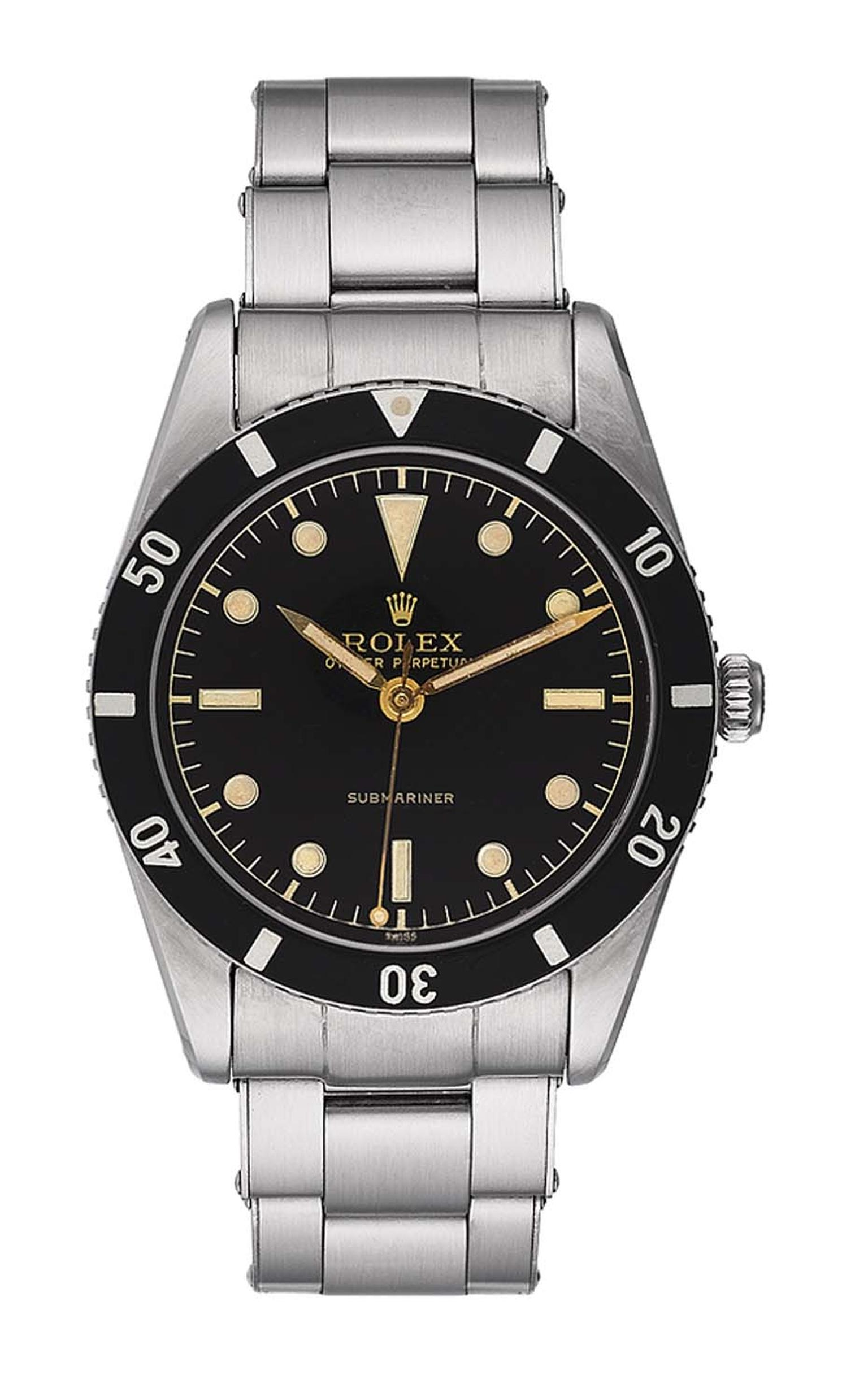 The very first Rolex Submariner dive watch, launched in 1953.