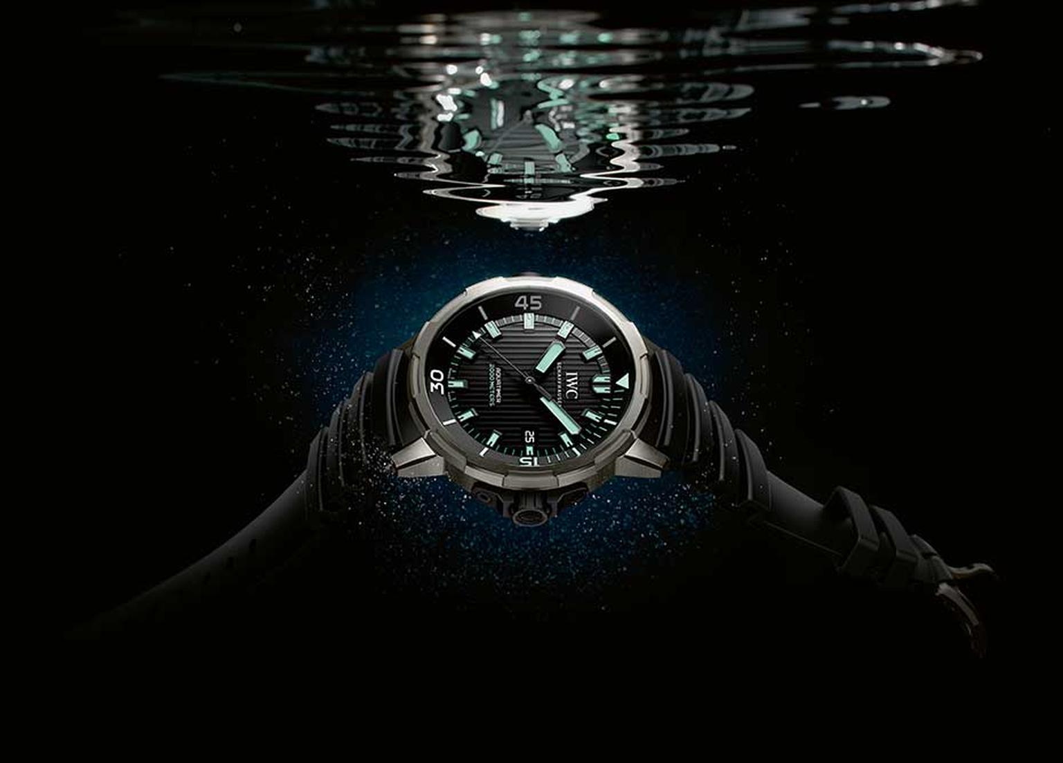 IWC's new Aquatimer 2000 can be used 2,000m beneath the sea - a watch that appeals to not only professional divers but also ambitious amateur ocean explorers.