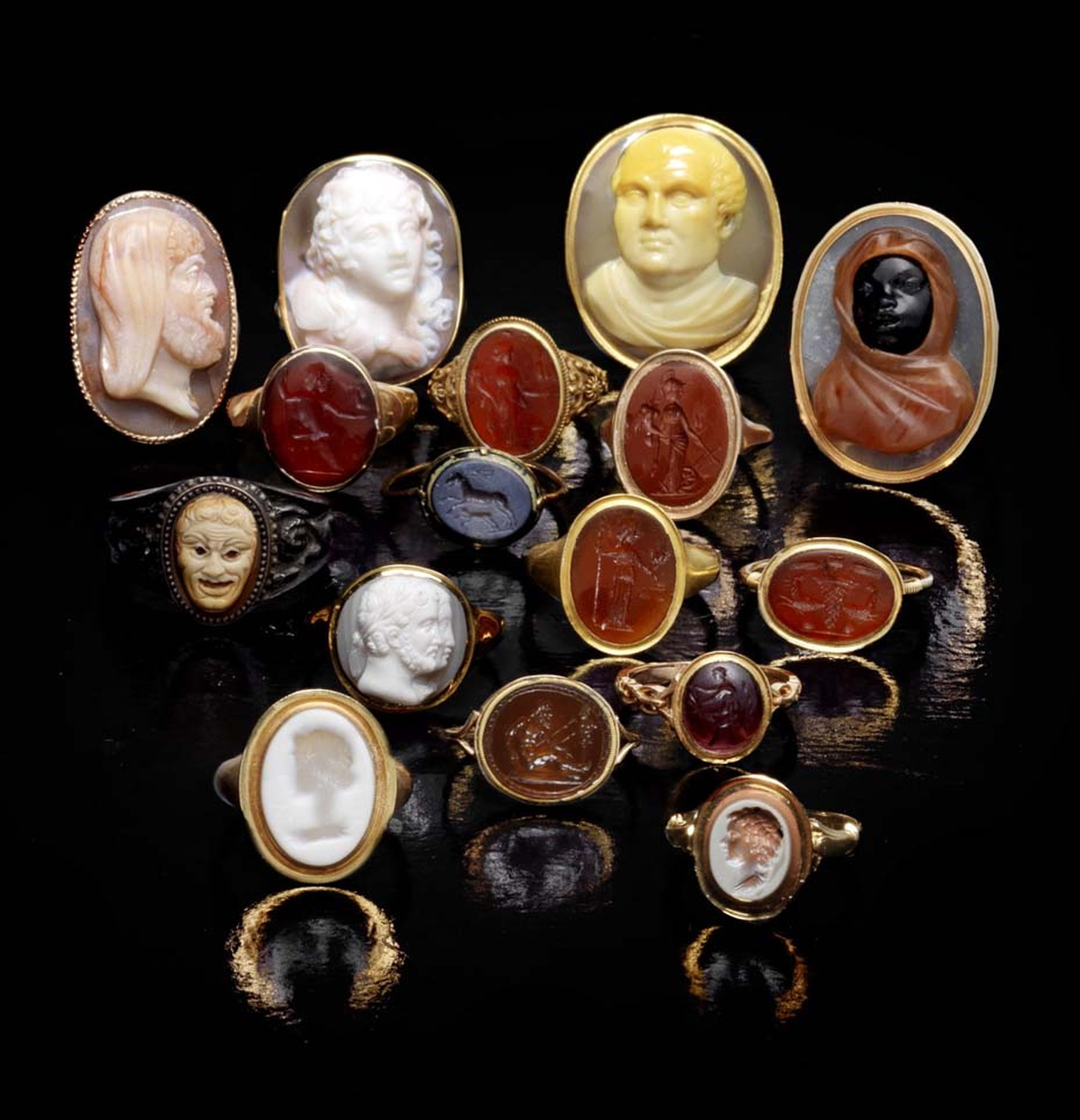 "Emily Barber, Director of Bonhams Jewellery Department, comments: ""Since ancient times, cameos and intaglios have been regarded as the discerning person's status symbol; with the sale of The Ceres Collection of 101 exquisite rings, Bonhams hopes to attrac"