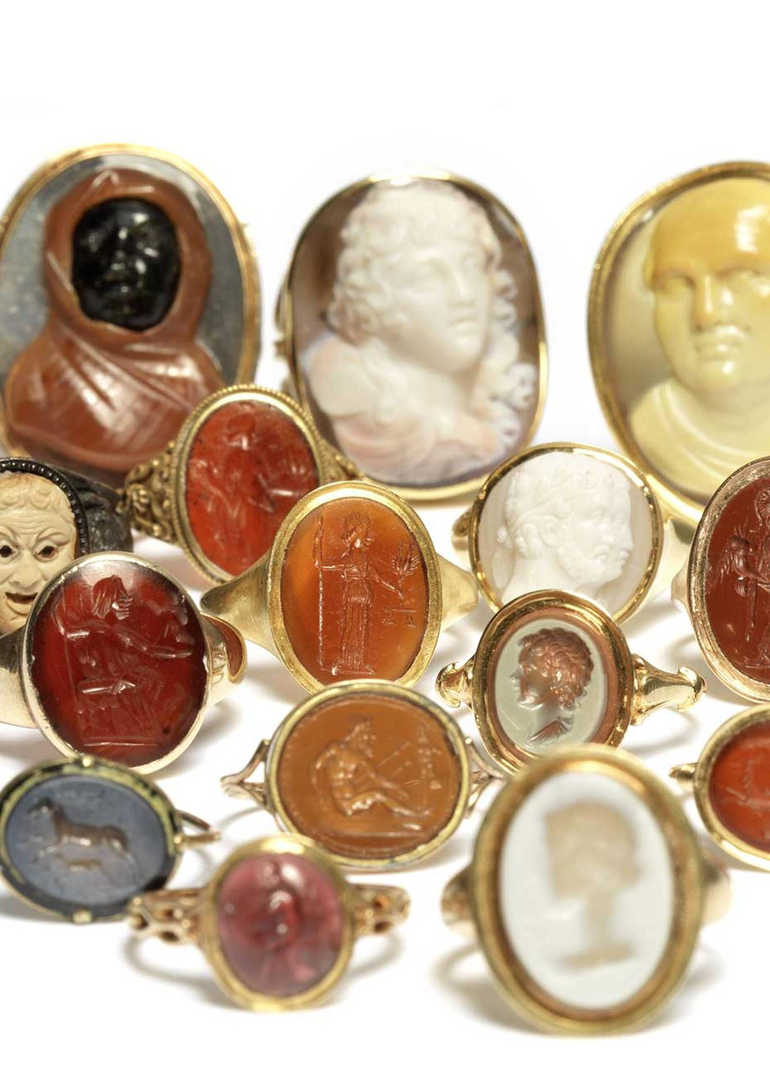 The Ceres Collection of 101 engraved cameo and intaglio rings that date back from as early as the 4th Century BC will be auctioned by Bonhams London this September.