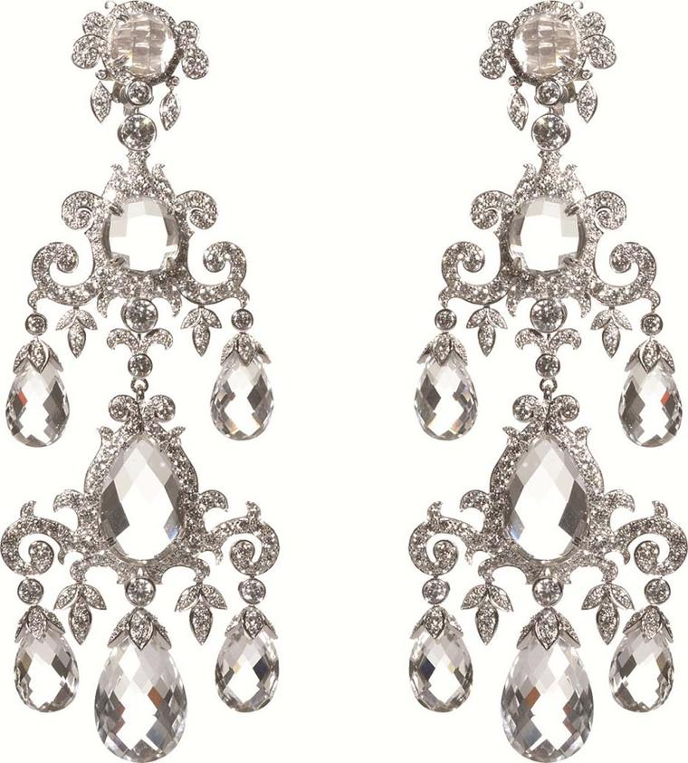 Ralph Lauren Fine Jewellery collection New Romantic rock crystal earrings as worn by Cate Blanchett during the Ralph Lauren Centre for Breast Cancer Research charity dinner.
