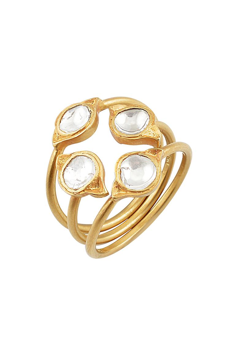 Amrapali gold and diamond stacking ring.