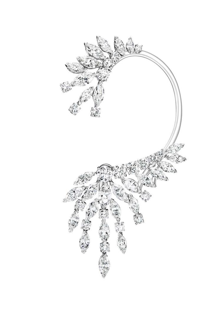 Piaget Extremely Piaget collection white gold earrings set with 11.59ct of marquise-cut diamonds and 20 brilliant-cut diamonds.
