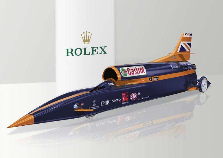 Rolex develops bespoke instruments of speed for Bloodhound SSC supersonic car