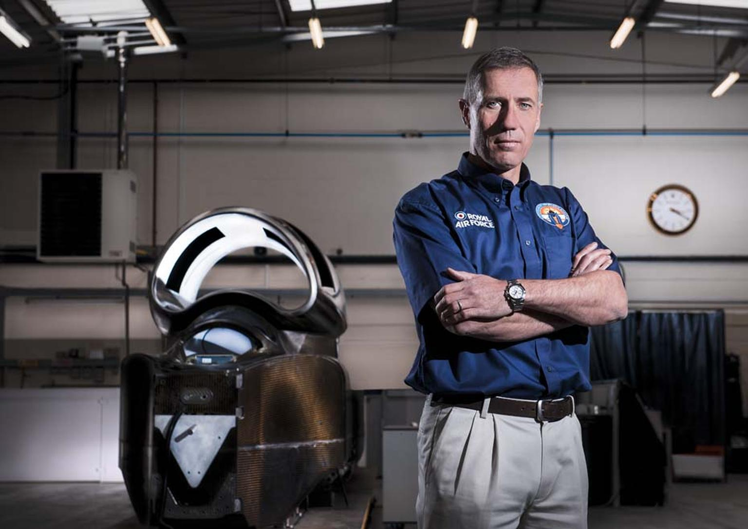 Wearing his Rolex watch, Andy Green OBE will be at the helm of the Bloodhound SSC supersonic car for the land speed record attempt in South Africa in 2016.
