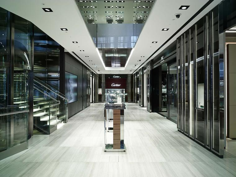 Inside, the new Watches of Switzerland store has 12 dedicated brand boutiques, including the first Patek Philippe shop-in-shop anywhere in the world.