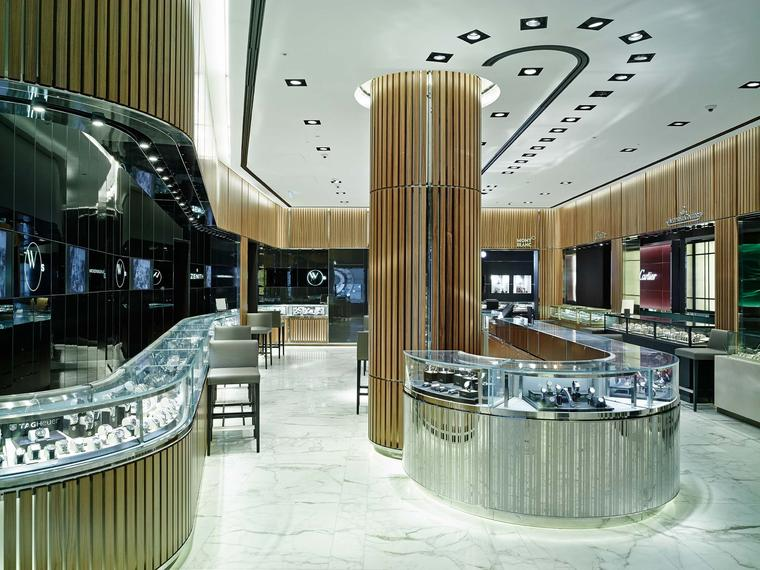 There are more than 20 brands on the lower ground floor of the new flagship Watches of Switzerland store in London, in what's been dubbed the Calibre Room, as well as the company's new Vintage collection of watches.