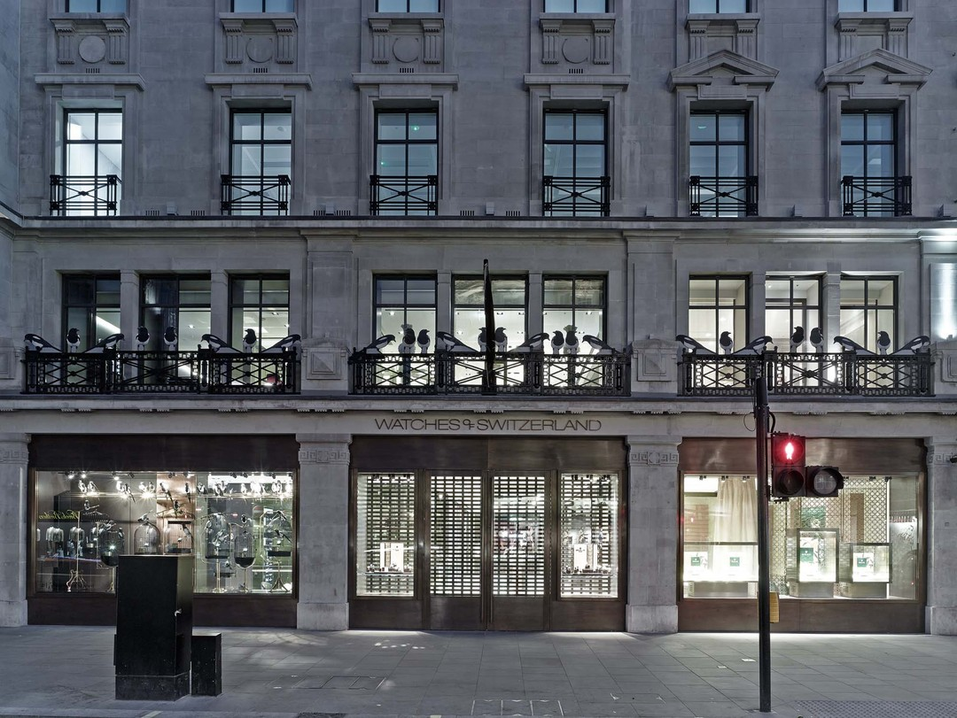 Spread over three floors and covering 17,000sq ft, the new Watches of Switzerland store at 155 Regent Street is an imposing presence, overlooking one of the busiest thoroughfares in London.