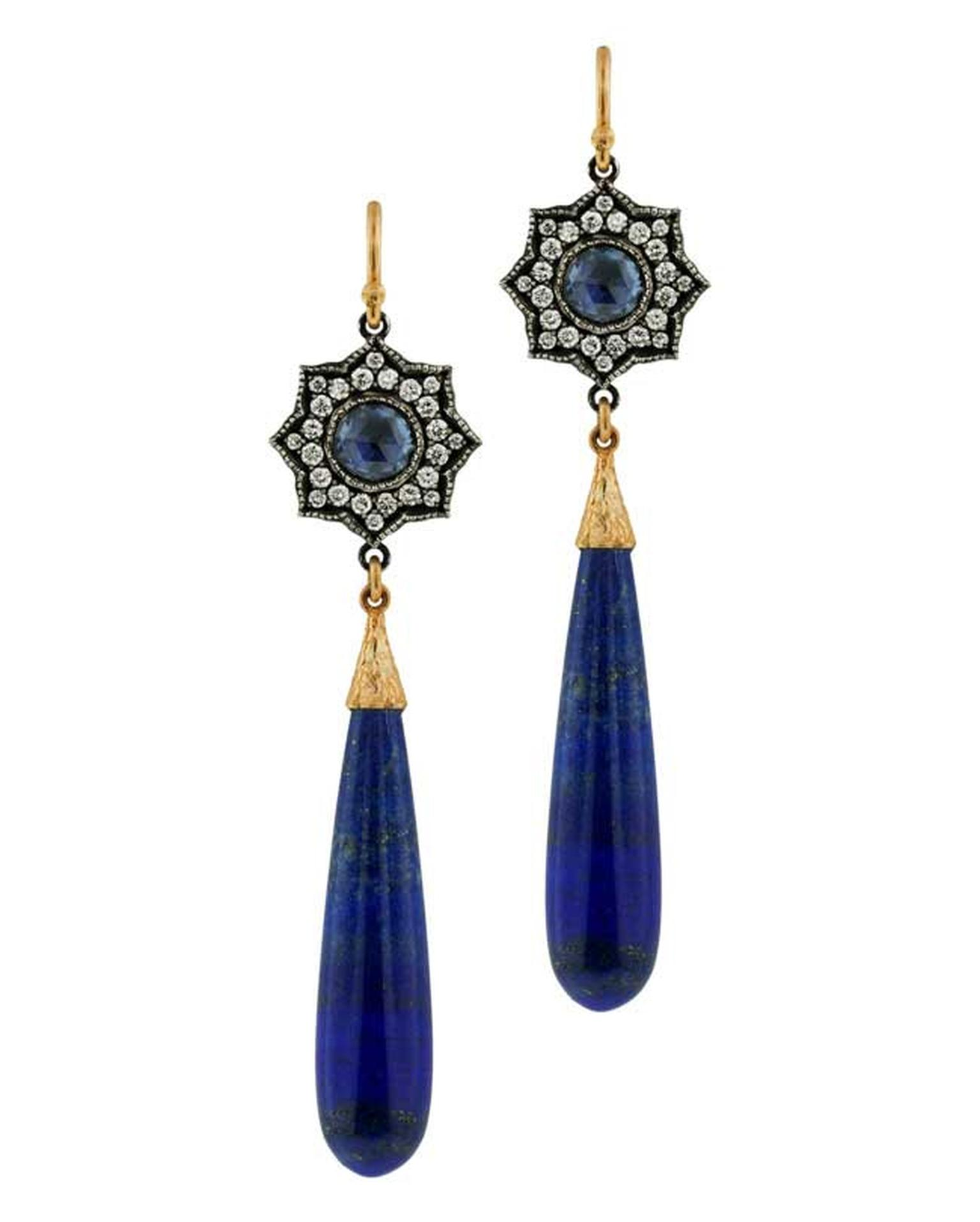 Arman Sarkisyan Lapis Lazuli Star Drop earrings.
