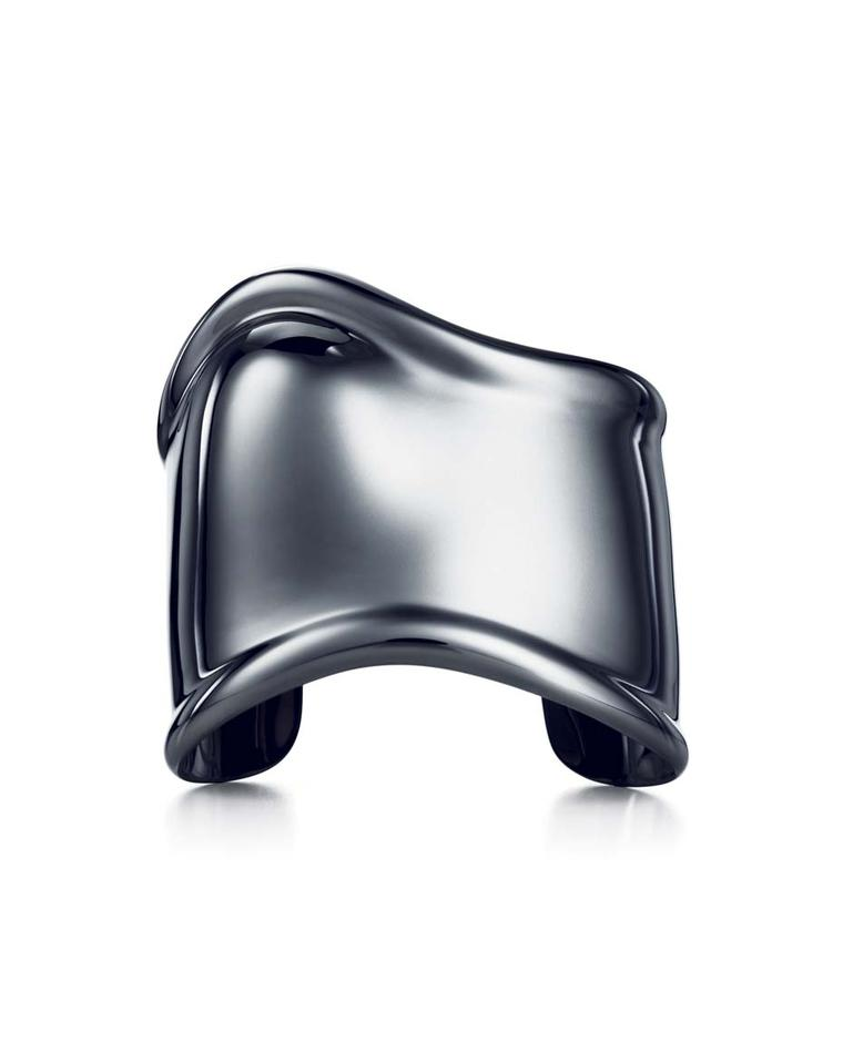 Elsa Peretti for Tiffany charcoal-coloured Bone Cuff in ruthenium over copper - one of the most sought-after accessories of the last four decades.