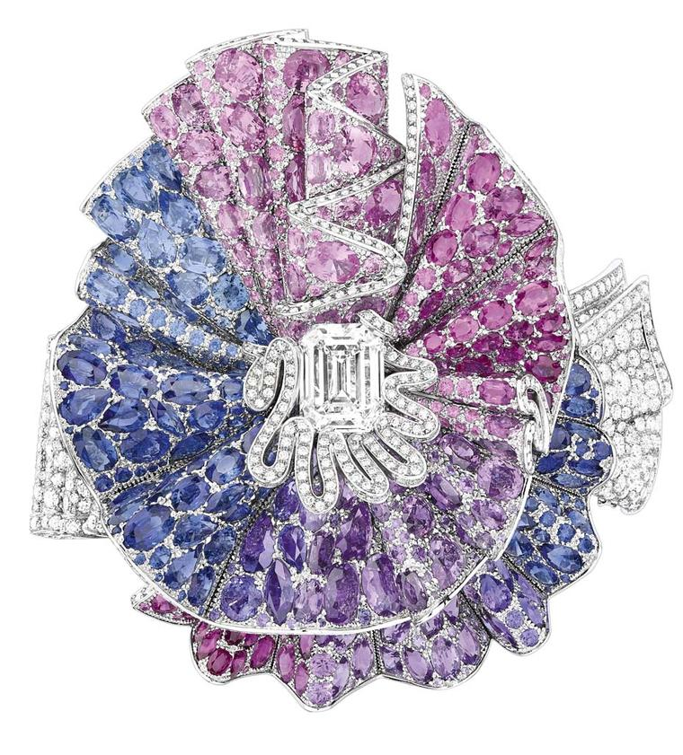 Dior's Ailée Diamant bracelet is set with more than 3,500 coloured gemstones and took more than 560 hours to create.