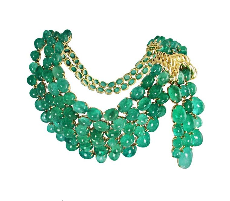 The Verdura Scarf emerald necklace, from the 75th Anniversary Collection, has been recreated for the first time since it was designed by Verdura in 1941 at the request of Dorothy Paley Hirshon.