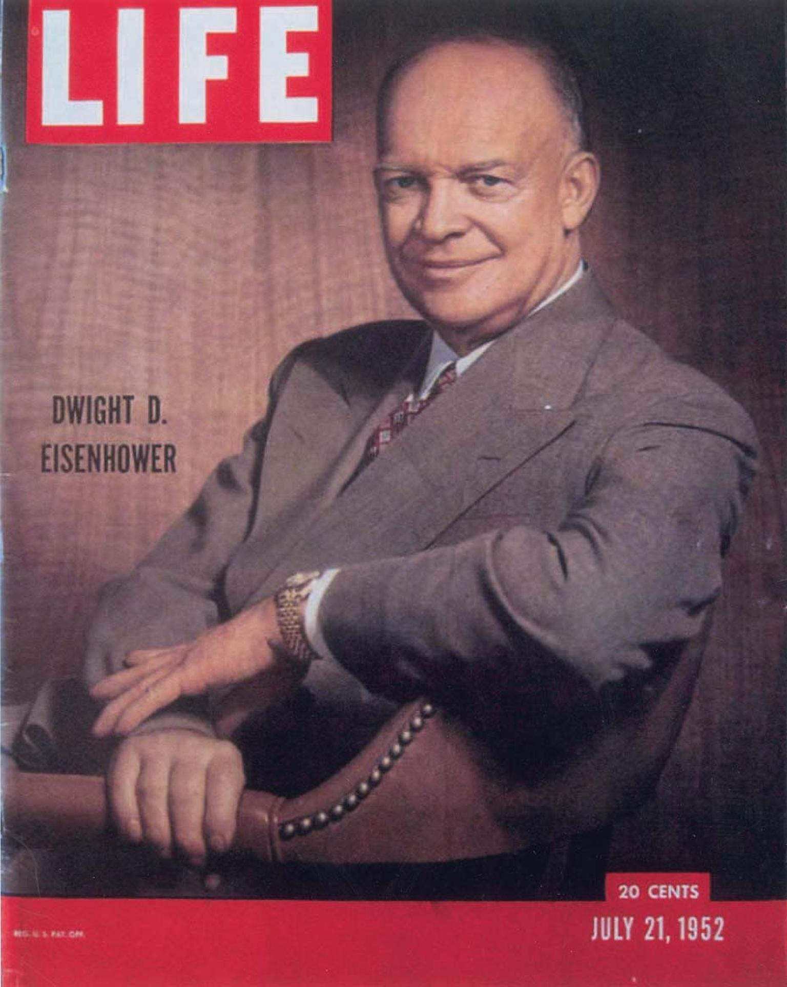 President Dwight D Eisenhower was regularly spotted wearing the Rolex Datejust watch during his two terms in the White House. It also appeared in official portraits, including one on the cover of Life magazine in 1952.