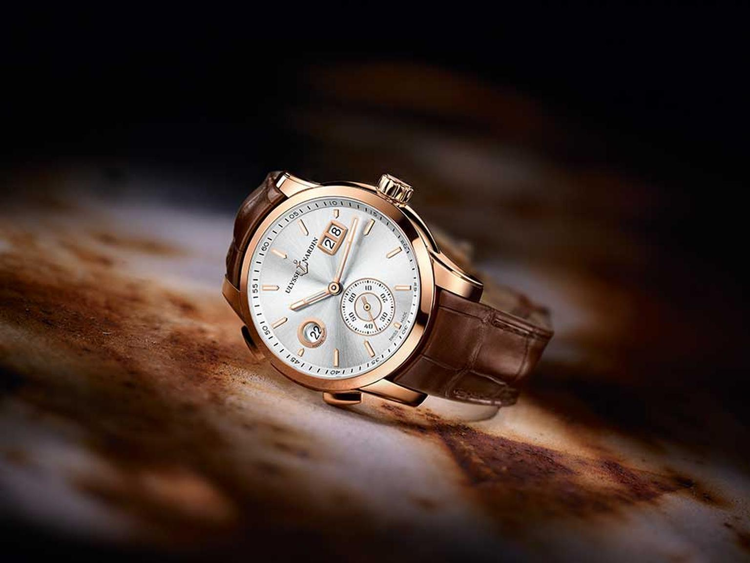 Ulysse Nardin 2014 Dual Time Manufacture watch.