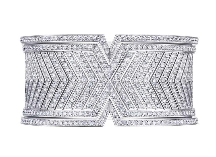 Louis Vuitton Acte V collection diamond Apotheosis cuff.