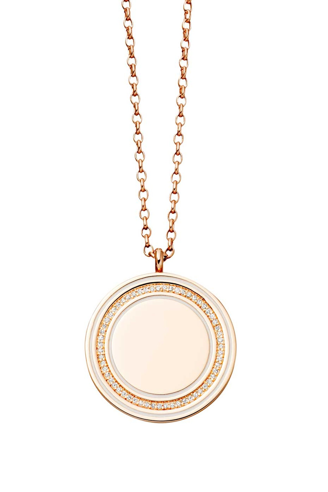 Astley Clarke Giant Moonlight Cosmos locket in rose gold with diamonds (£1,950).