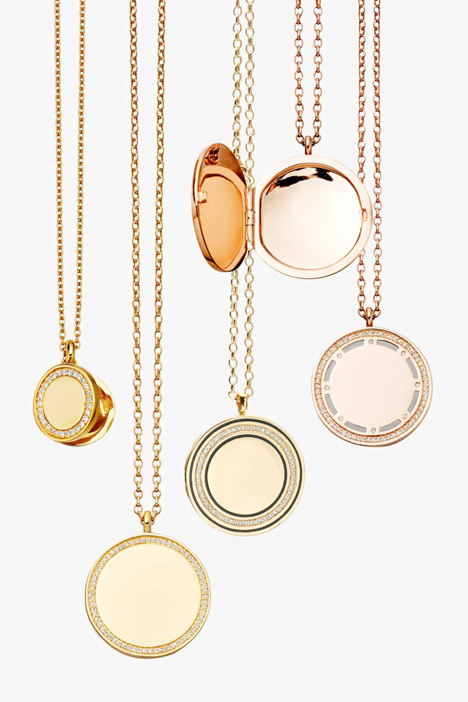 Designed in-house at the Astley Clarke London Design Studio, their newest collection of Cosmos lockets feature either rose or yellow gold, with diamonds and hand enamelling. The collection also includes rings and small pendants which all add the perfect t