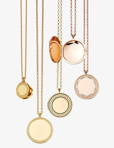 Designed in-house at its London Design Studio, Astley Clarke's new Cosmos lockets are available in either rose or yellow gold, with diamonds and embellished with enamel. The collection also includes rings and small pendants.