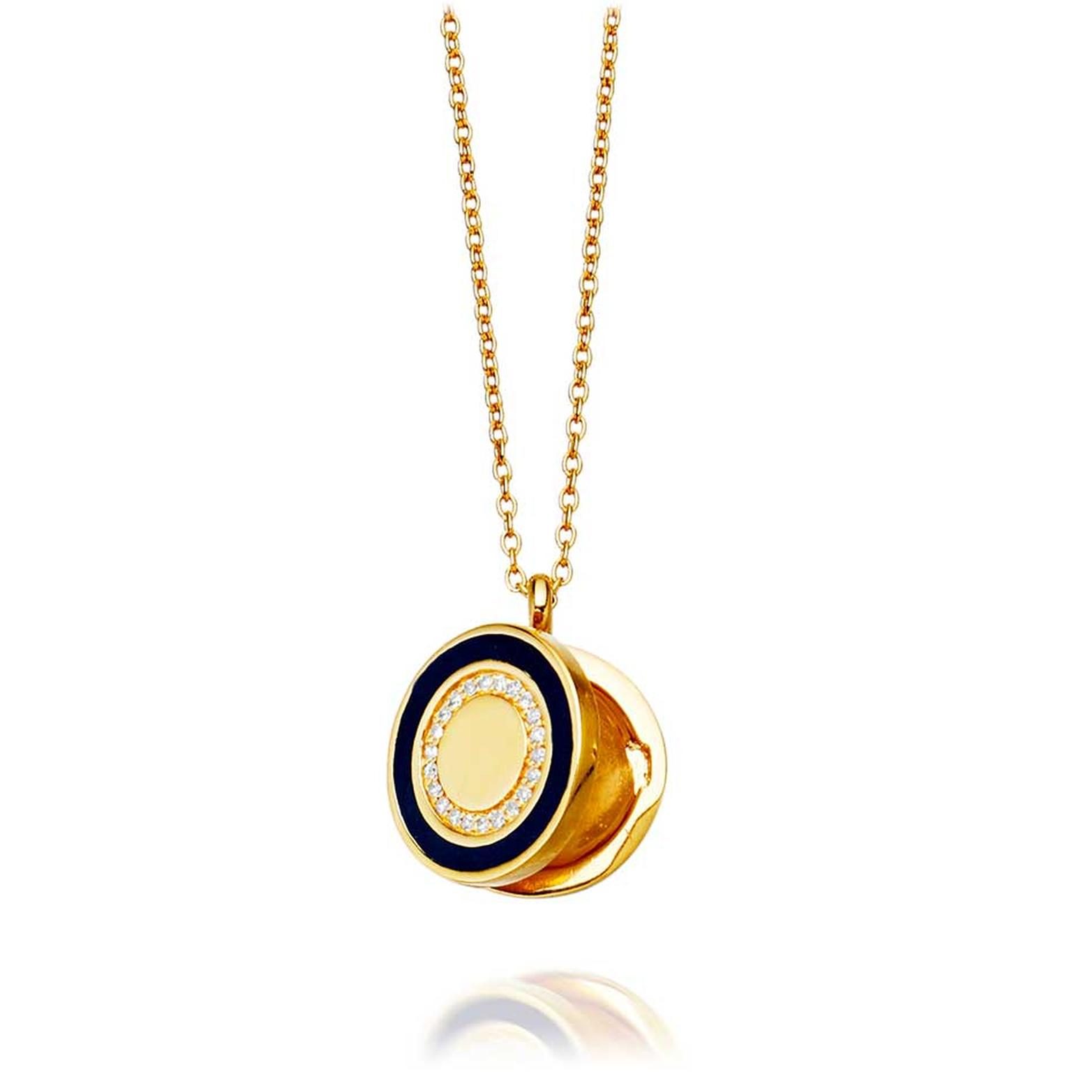Astley Clarke Midnight Cosmos locket in gold with diamonds (£995.00).