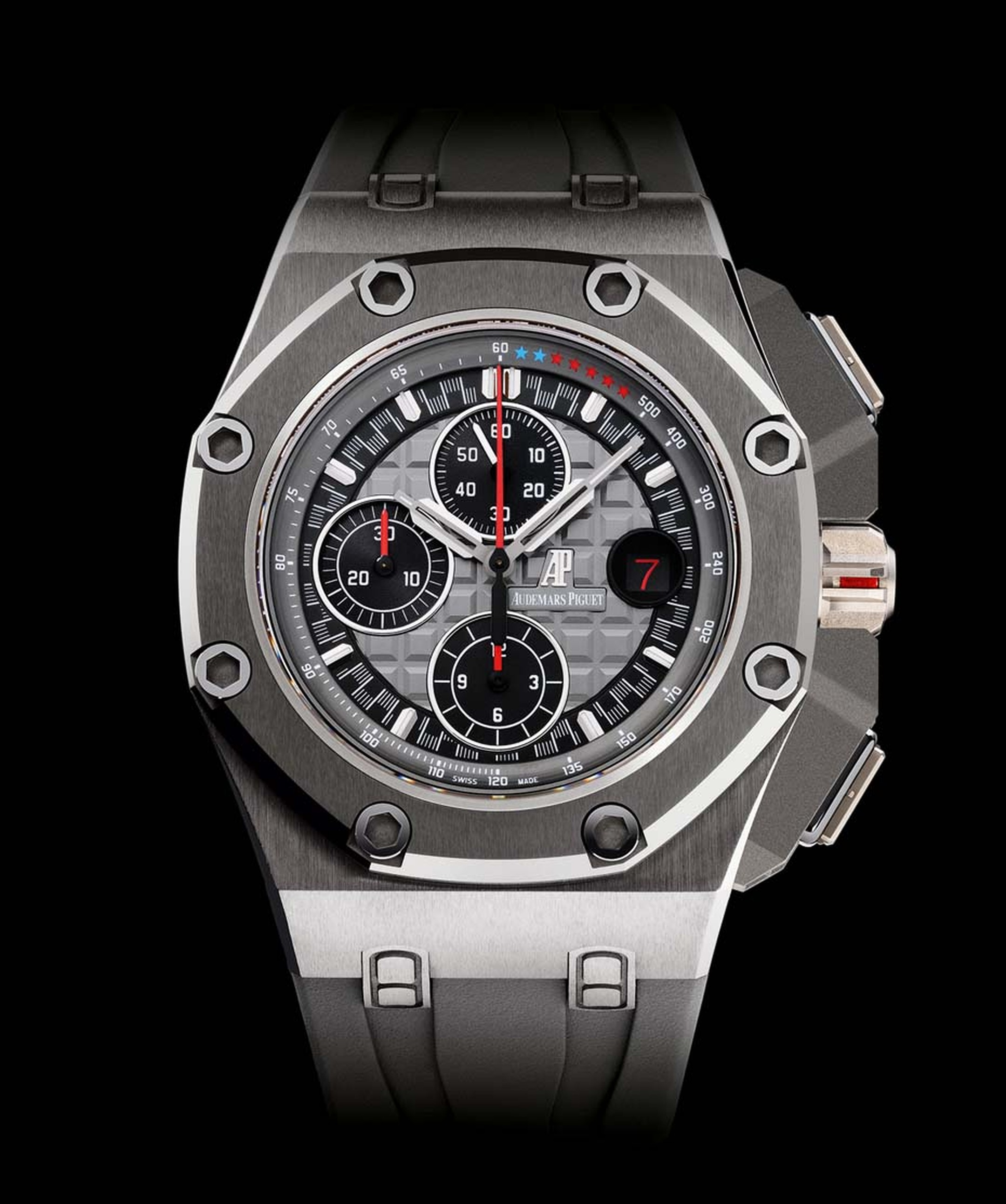 Audemars Piguet's Royal Oak Offshore Michael Schumacher chronograph was launched in 2012 with three limited-edition models in titanium (pictured), rose gold and platinum. All three versions have virtually unscratchable cermet bezels and butter-soft rubber