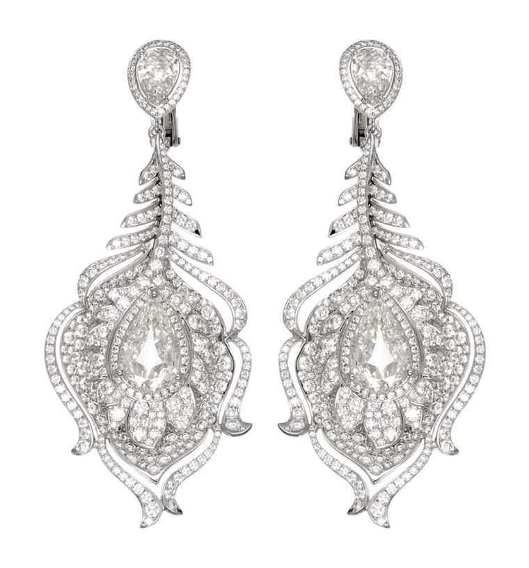 Chopard Red Carpet Collection diamond earrings in white gold (£POA).