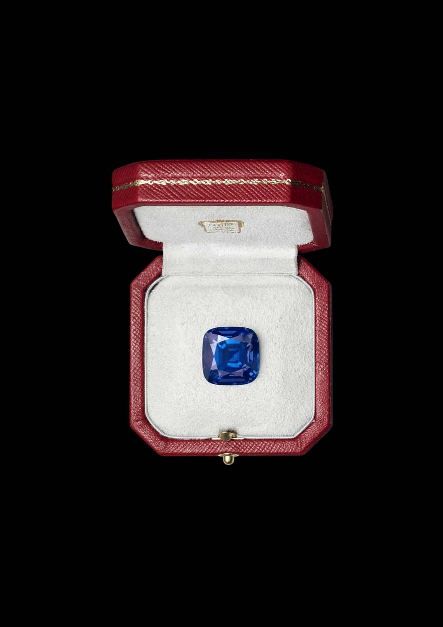 The 29ct sapphire from Kashmir in Cartier's Bleu-Bleuet ring is extremely rare because the Kashmir mine from which it hails - situated at an altitude of 4,000m in the Himalayas – has almost been depleted.