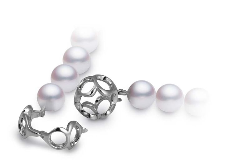 The innovative clasp, which is made up of circles to form numerous number eights, means that Mikimoto's 88 necklace can be worn in a multitude of ways.