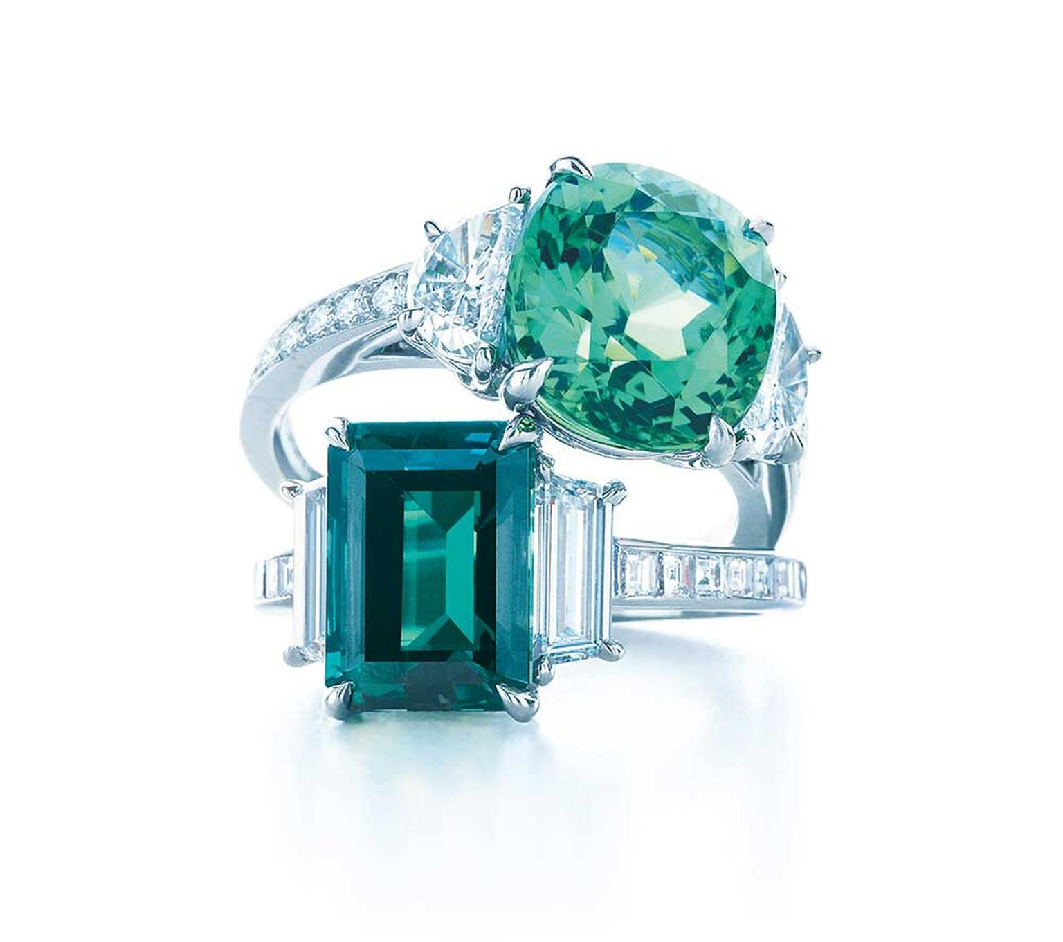 ella white watch radiant cut emerald ring cushion youtube gold diamond