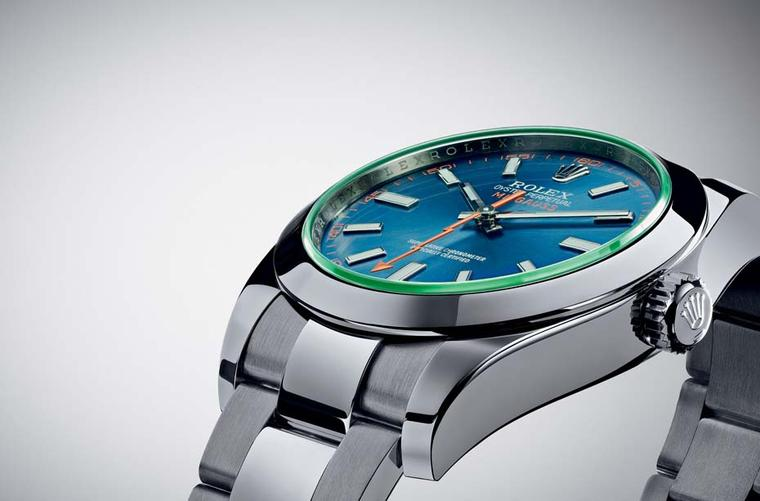 The Rolex Milgauss Z-blue watch, new for 2014, starts at £5,500.