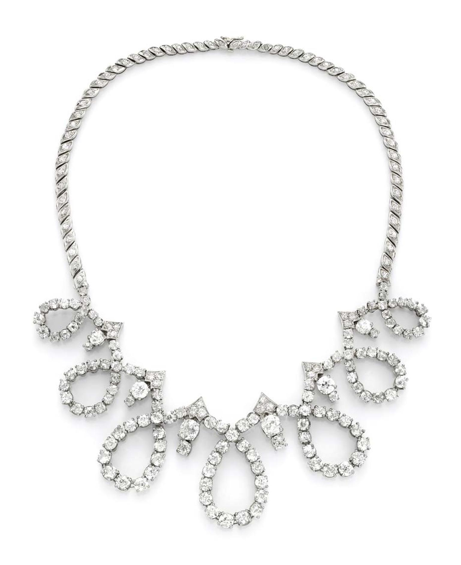 Pierre Sterle diamond necklace circa 1950, available at Simon Teakle.