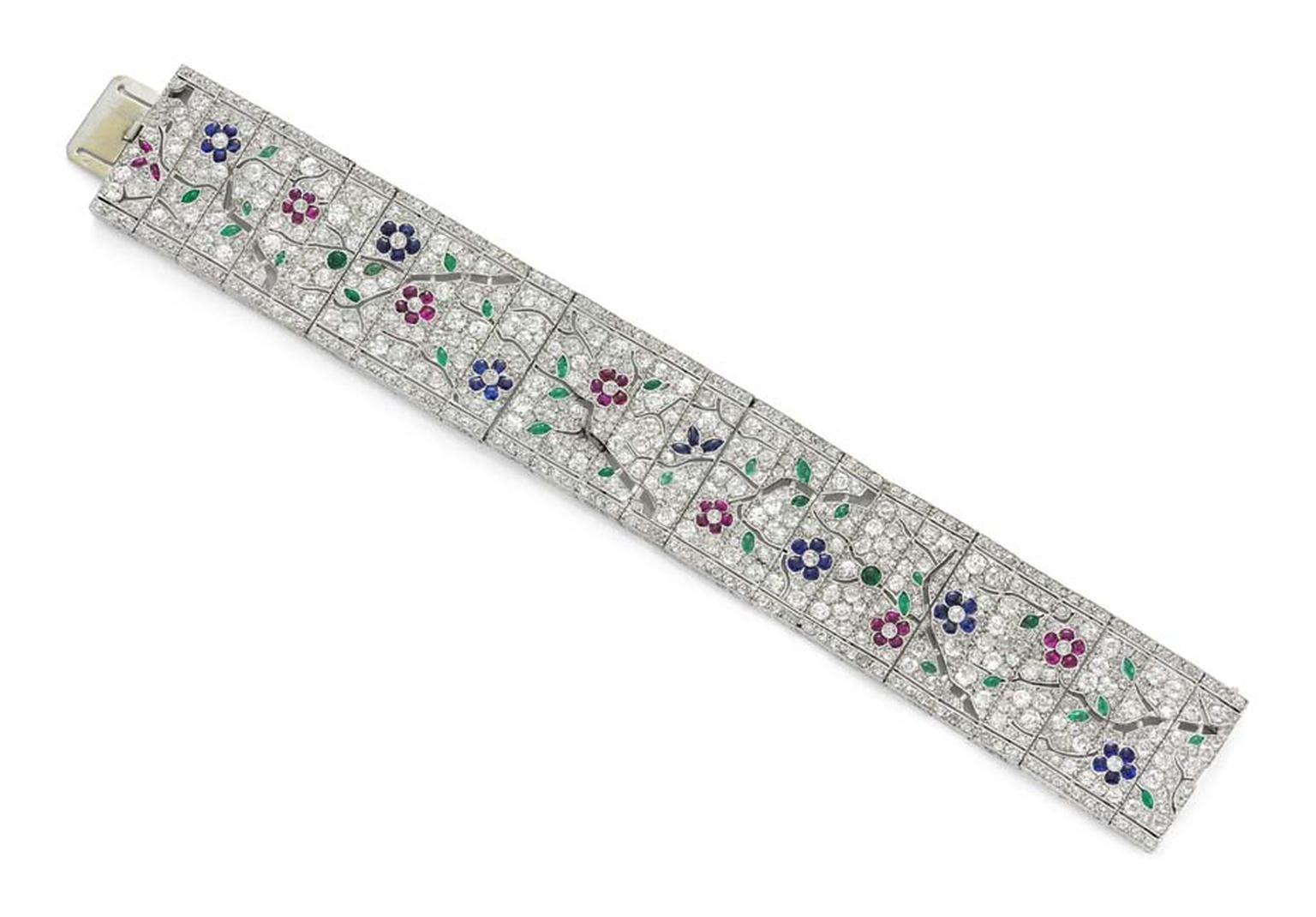 Art Deco cherry blossom bracelet by Lacloche Paris circa 1925, available at Simon Teakle.
