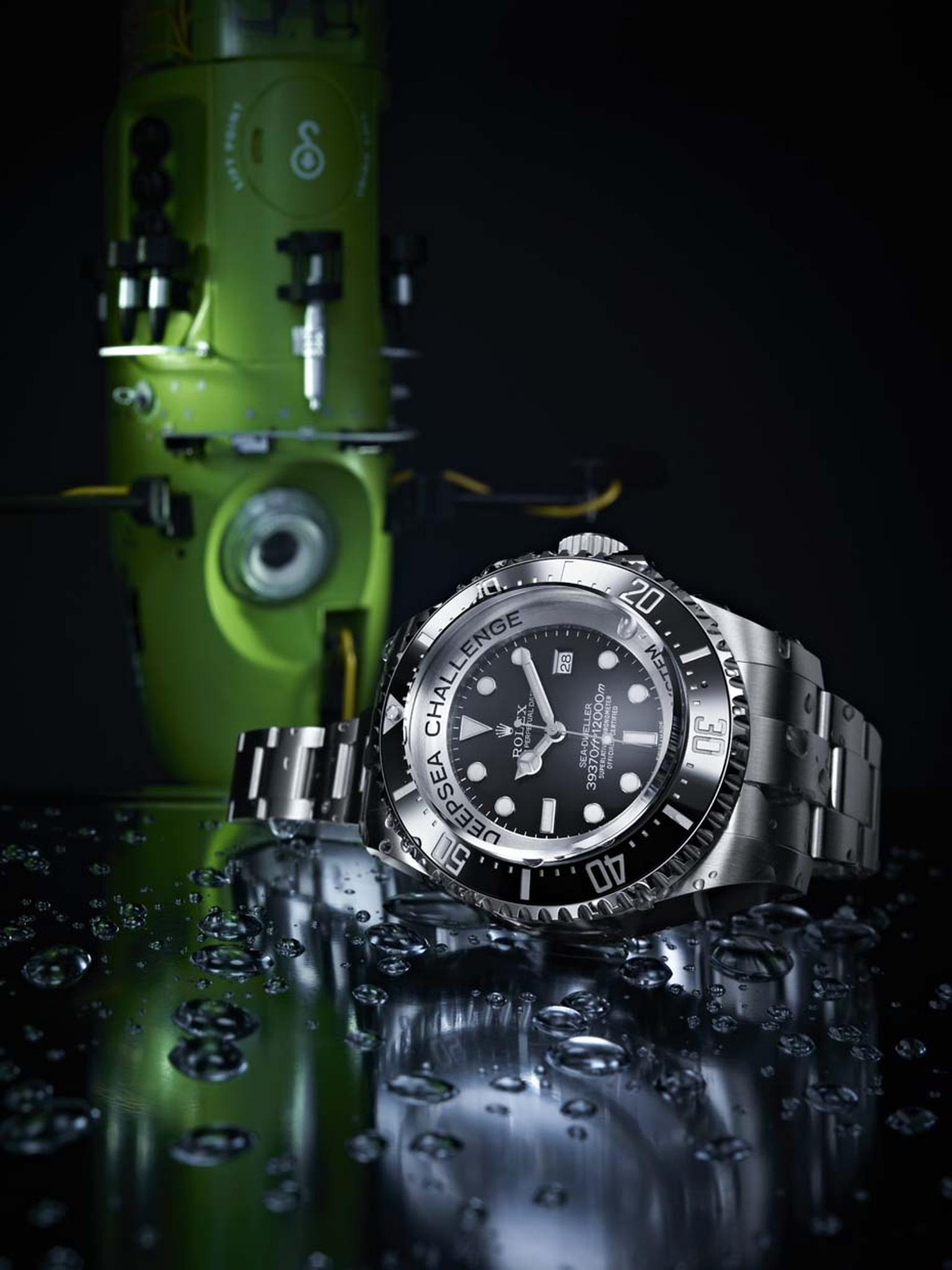 Attached to the hull of James Cameron's sub as he descended 11,000m under the sea were three Rolex Deepsea dive watches, which withstood pressures of up to 12 tonnes and surfaced unscathed.
