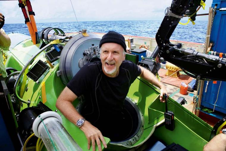 Director and explorer James Cameron was accompanied in his one-man submersible to the deepest point of the world's oceans, known as the Mariana Trench by three Rolex Deepsea watches. © Mark Thiessen/National Geographic