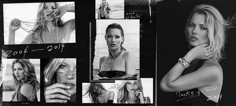 Memorable moments during a decade of collaboration between jeweller David Yurman and the British supermodel Kate Moss.