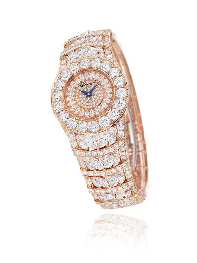 The Jewellery Watch Prize at the 2013 Grand Prix d'Horlogerie de Genève was handed to Chopard for the heavily diamond-set L'Heure du Diamant watch.