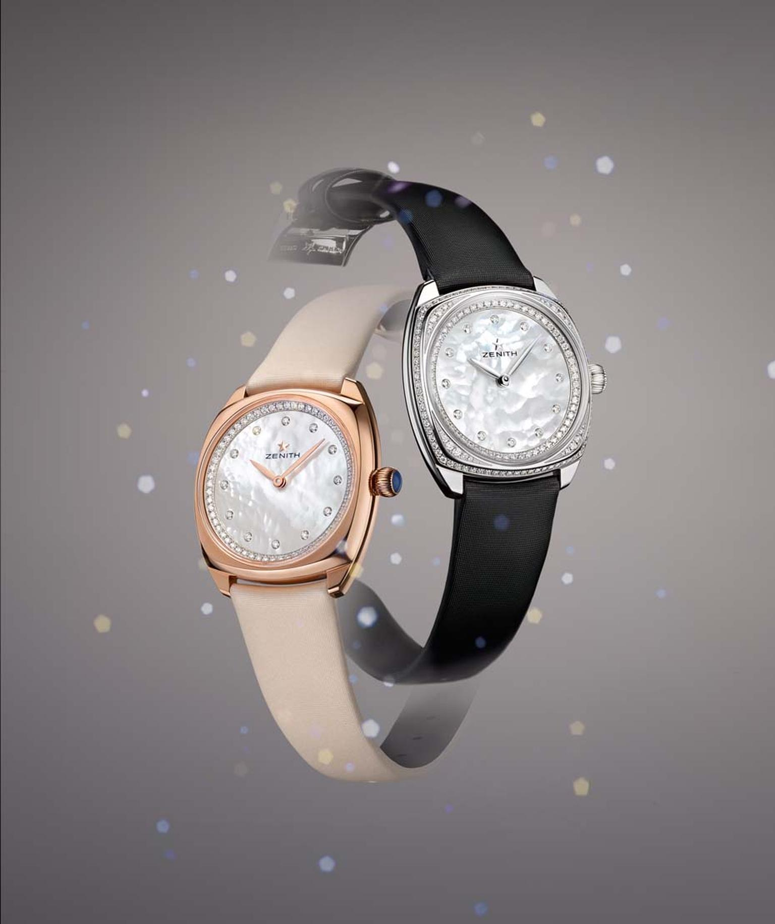 Three new models join the Zenith Star collection this year: in rose and white gold with a sprinkling of diamonds or a version full-set brilliant-cut diamonds.