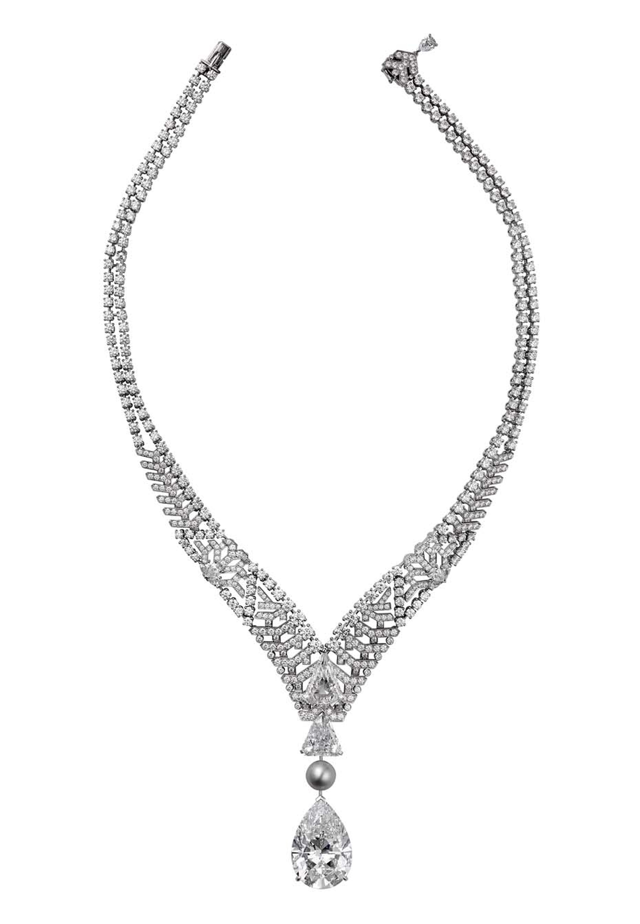 Cartier's Royal Collection diamond necklace featuring a perfectly flawless (D IF Internally Flawless Type IIa) 30ct diamond.