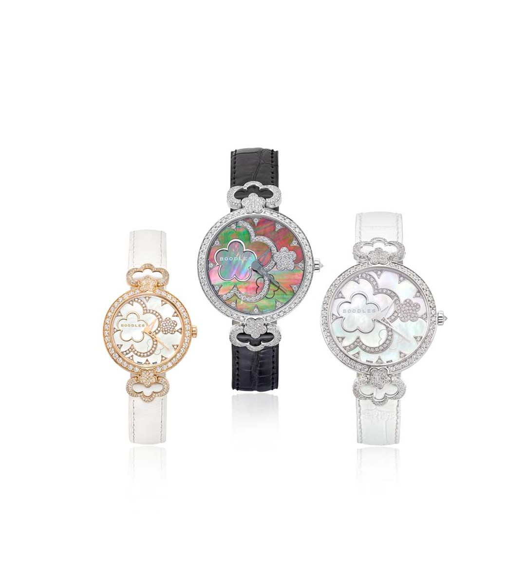 Boodles Blossom watches come in either s 37mm full-set diamond watch with 403 diamonds totalling almost 3ct and a smaller 28mm watch with 350 diamonds totalling almost 2ct.