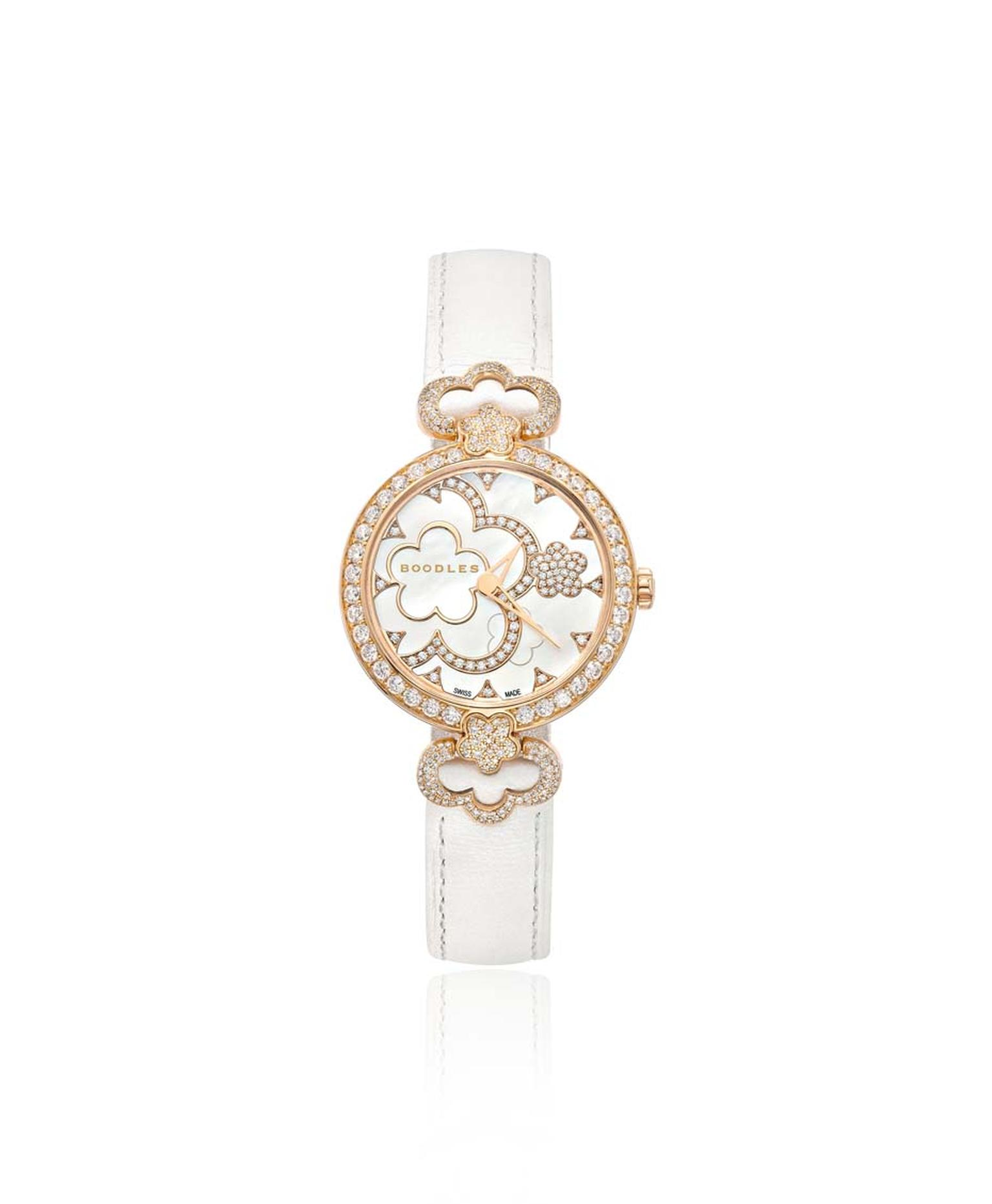 Boodles Blossom rose gold watch