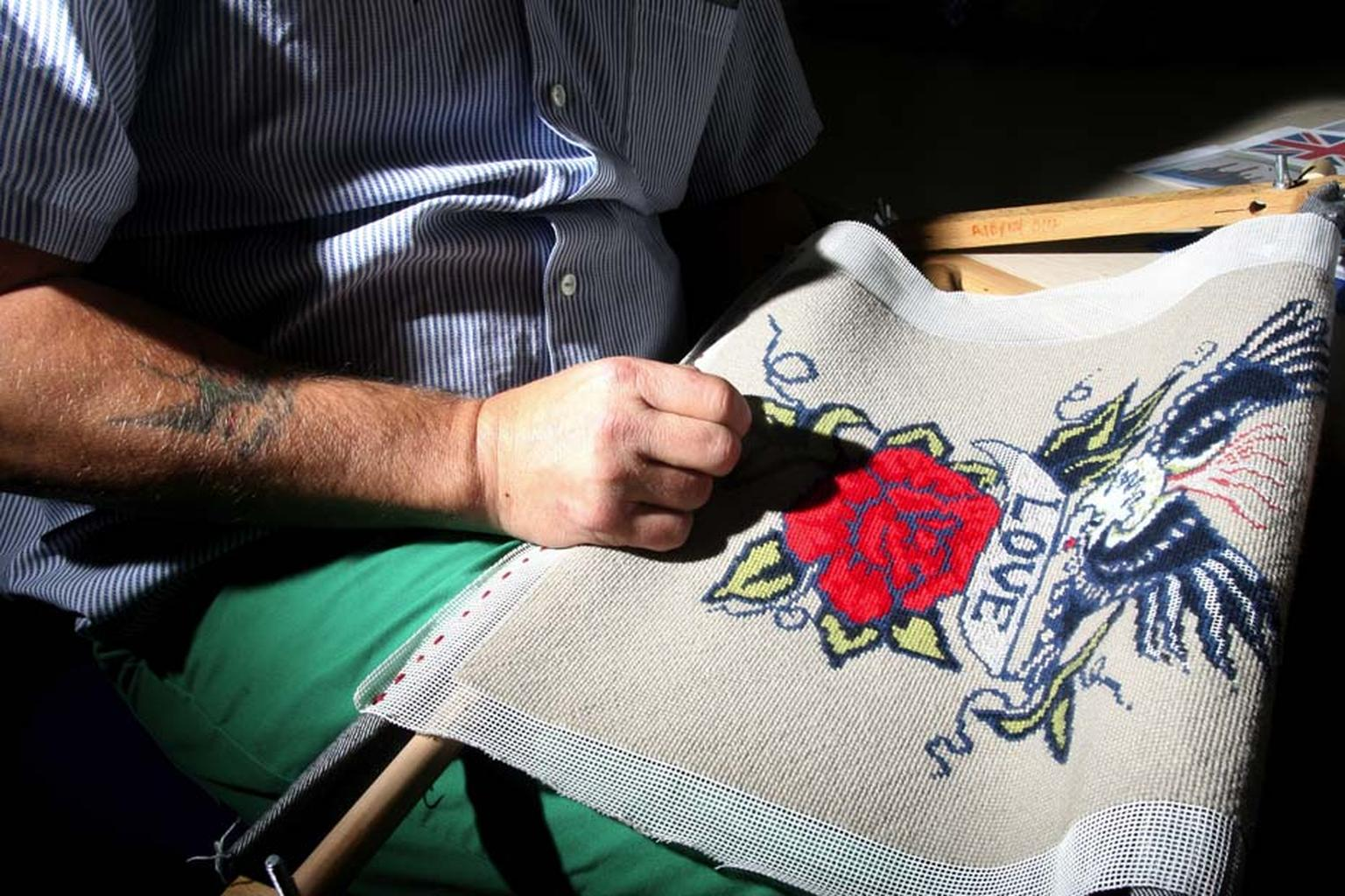 The Fine Cell Work charity teaches creative needlework to inmates; giving them the opportunity to earn money while also helping them cope with life in and out of prison.