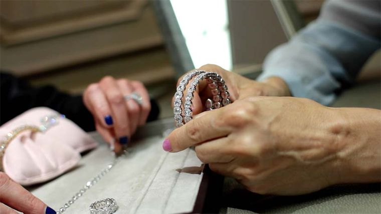 Maria Doulton examines the latest David Morris Rose-Cut collection diamond bangles.