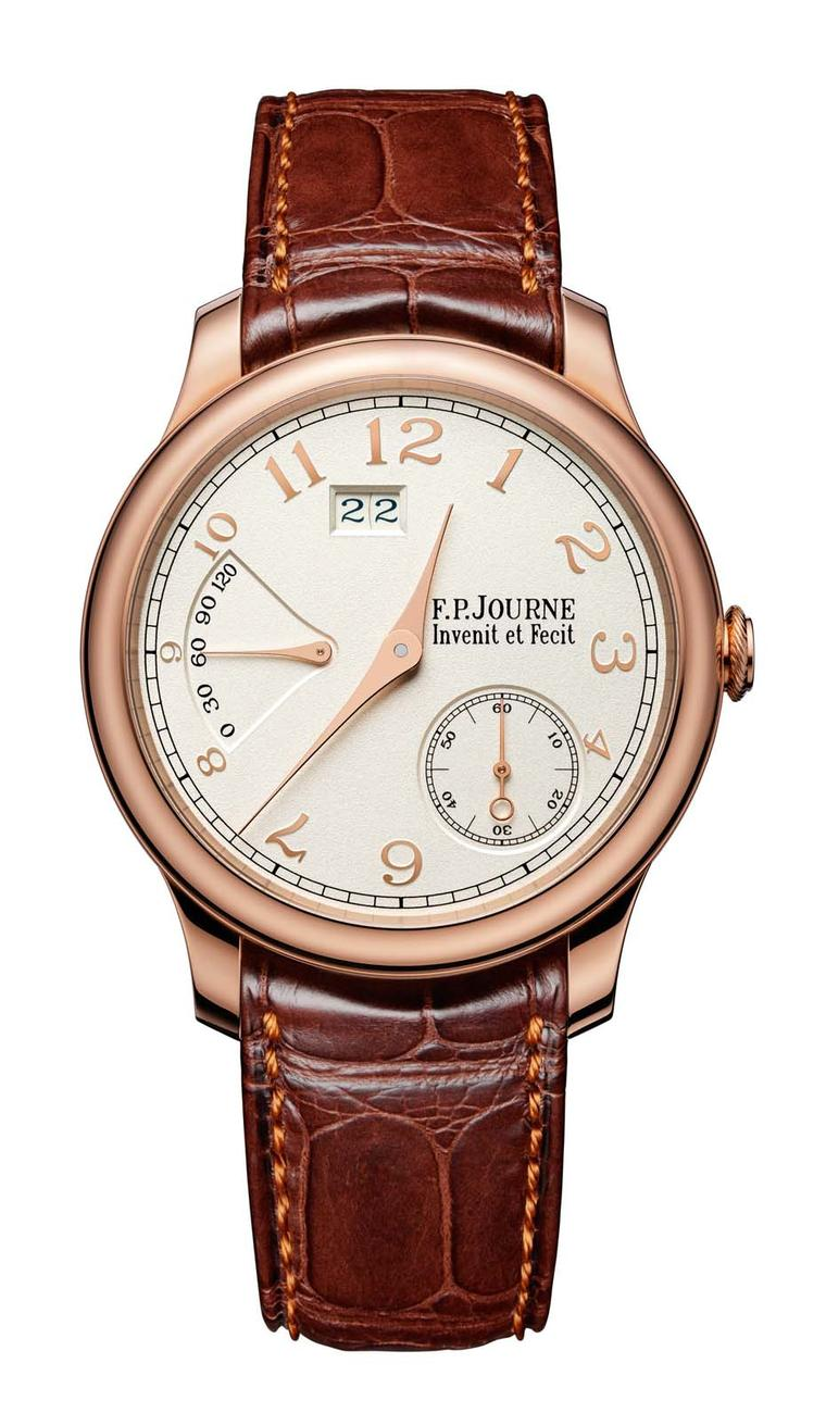 Although the dials seem silvery in colour, the base of each of his gold dials is solid gold as shown on F.P. Journe's Octa Réserve watch.