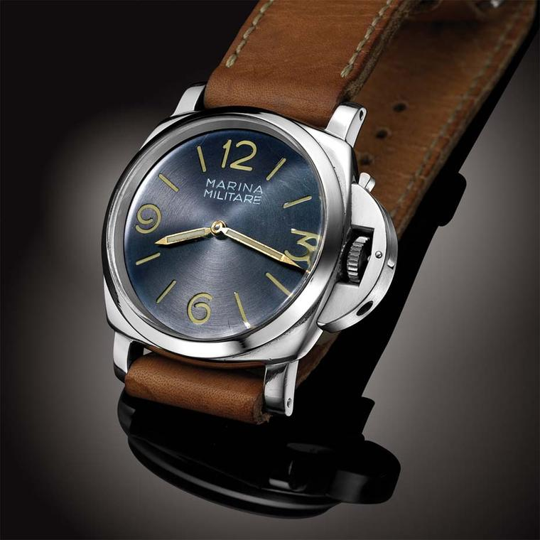 An example of only 24 watches bearing the 6152 reference, the Panerai 6152 circa 1955 features a blue Radiomir dial along with a Rolex 618 15-jewel calibre. Its estimated value is £180,000.