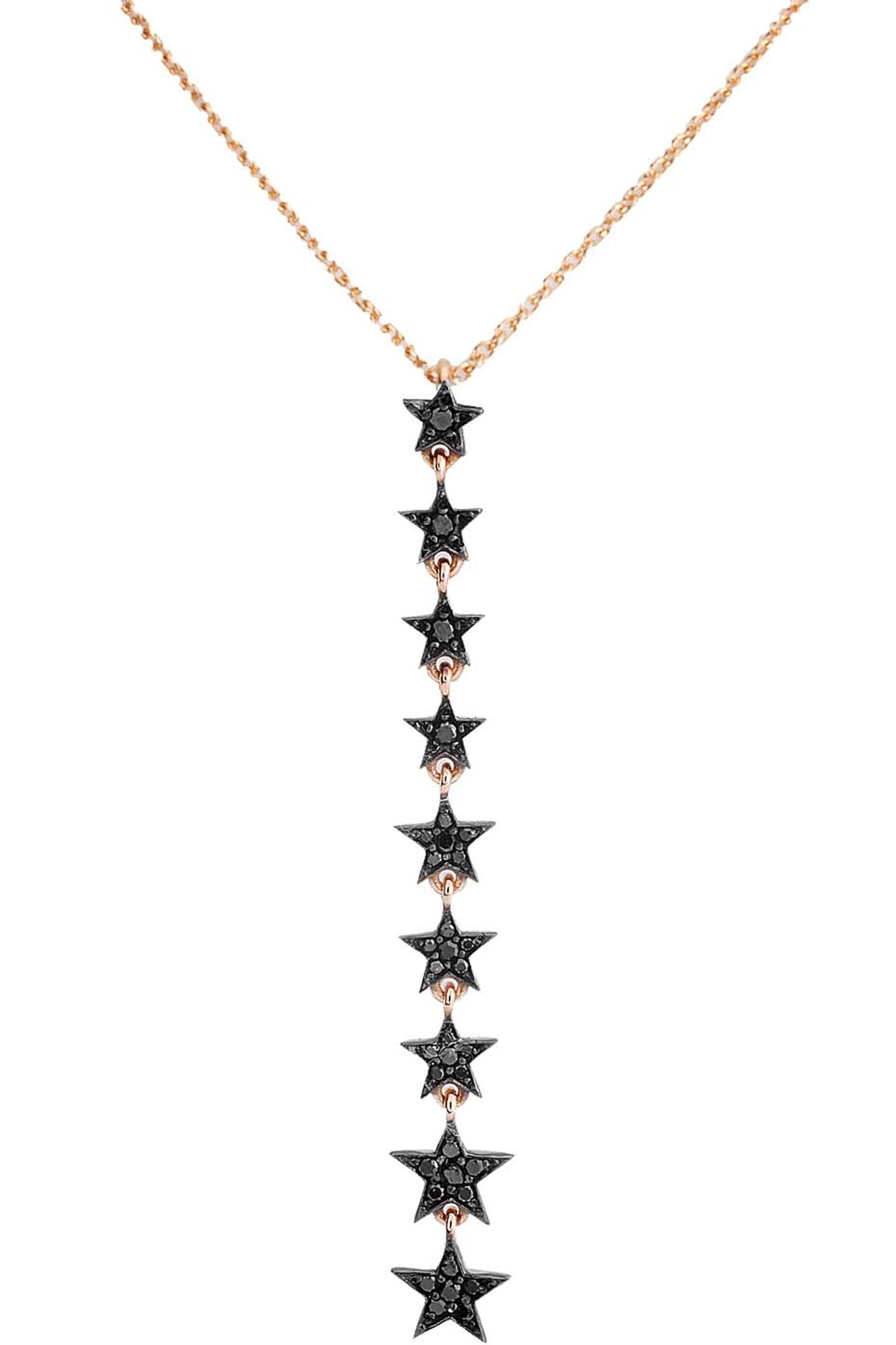 Kismet by Milka black diamond star necklace.
