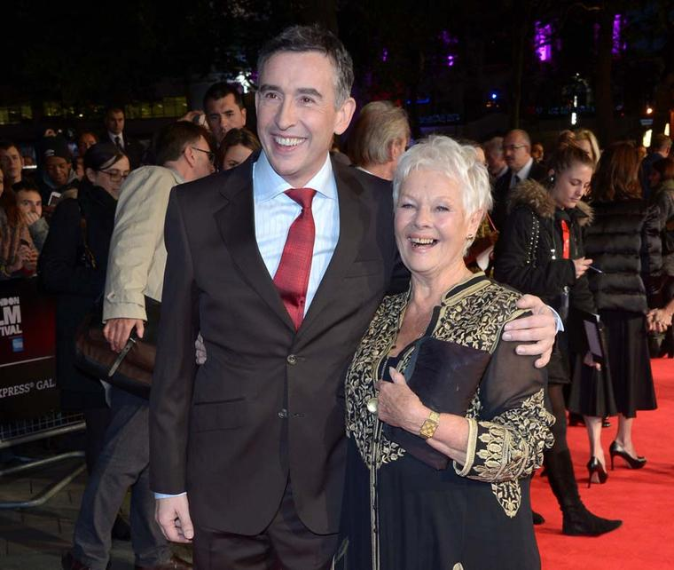 Judi Dench and Steve Coogan on the red carpet of the BFI London Film Festival. Image by: IWC/David M. Benett.