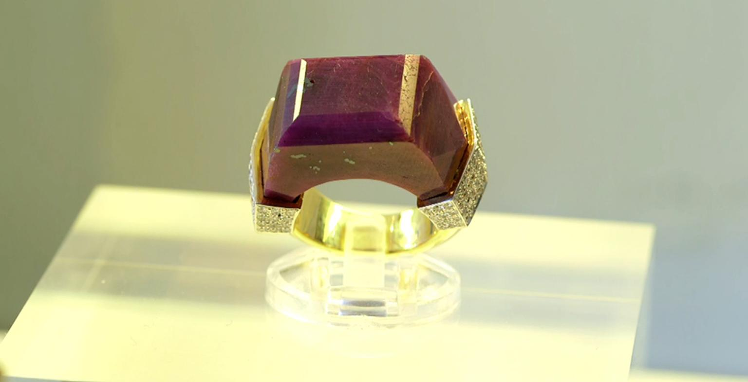 Jade Jagger Never Ending jewellery collection ruby ring. Available at 1stdibs.com.